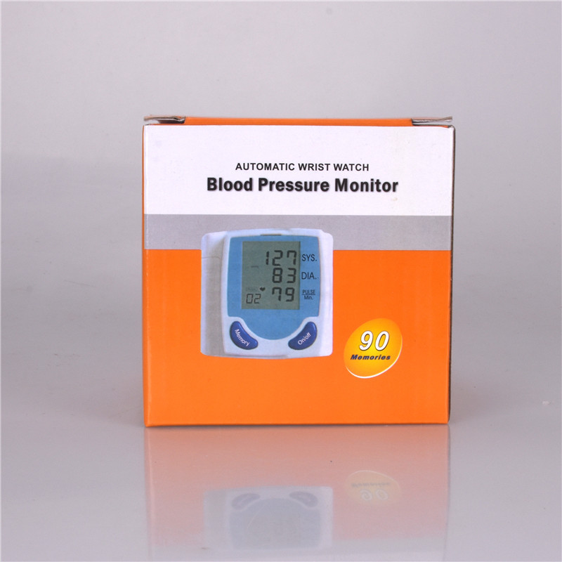 Digital Wrist Blood Pressure LCD Monitor & Heart Beat Meter