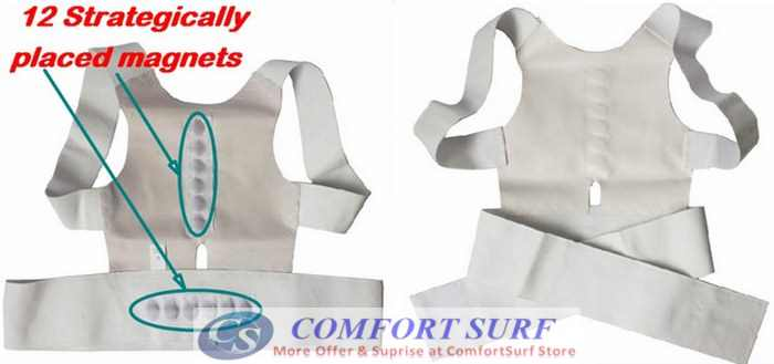 Power magnetic Posture Sport Prevent Chronic Neck and Back Pain Improve Posture!
