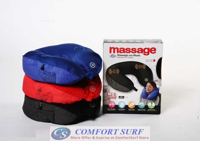 Total Pillow Massage with / without Music MP3 Speaker U Neck Rest Travel