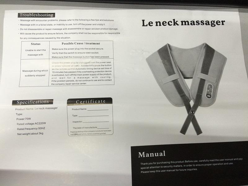 cervical massage shawls neck and shoulder