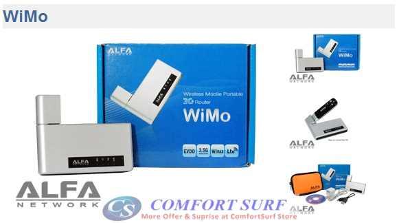 Alfa Wimo HSDPA 3G 7.2Mbps 802.11b/g Mifi Wireless Router