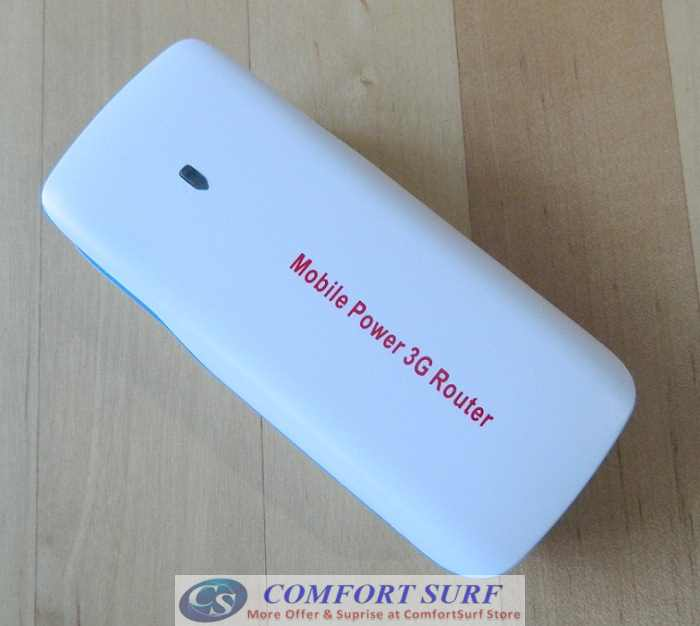 Multifunction HAME/Mobile Power 3G Wireless Router - 3G Hotspot, Wifi AP, 5200mAh Power Bank