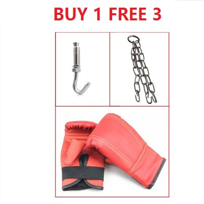 60 / 80 / 100 / 120cm Training Fitness MMA Boxing Heavy Sand Punching Bag Buy 1 Free 3