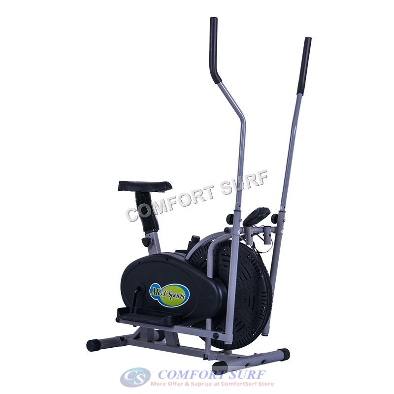 Orbitreck Air Elliptical Cross Trainer Cardio & Fitness Body Workout LCD Display Exercise Bike With Seat
