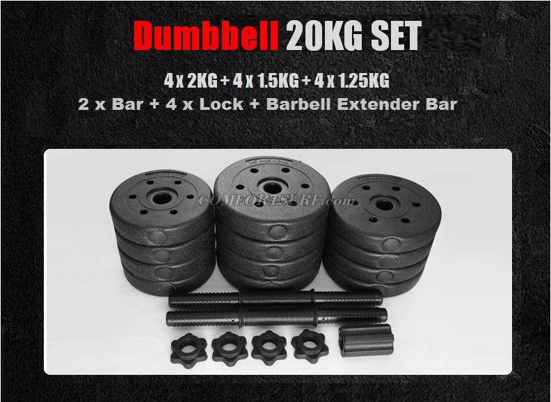 Top Grade Bumper Plate Rubber Dumbbell 15kg 20kg 25kg 30kg 40kg /pair