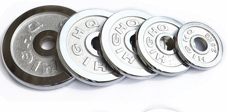 High Grade Quality Iron Chrome Coating Dumbbell Plate Weight Barbell Plates