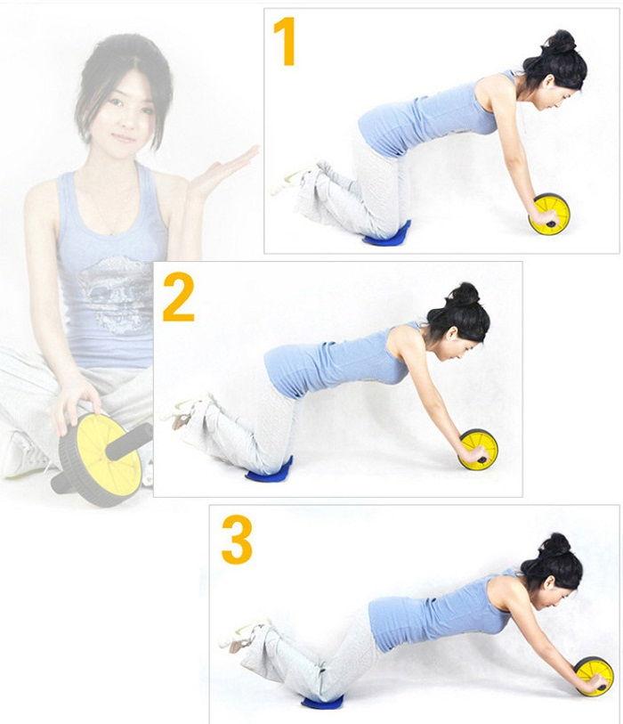 Ab Wheel Double Gym Roller Total Body Revoflex Exercise