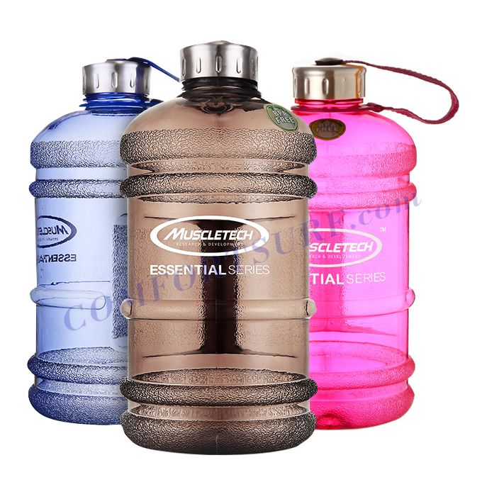 MuscleTech Sports Water Bottle 2.2L Large Capacity Fitness Body Builder Kettle Milk Shake Cup Protein Powder Water Tumbler