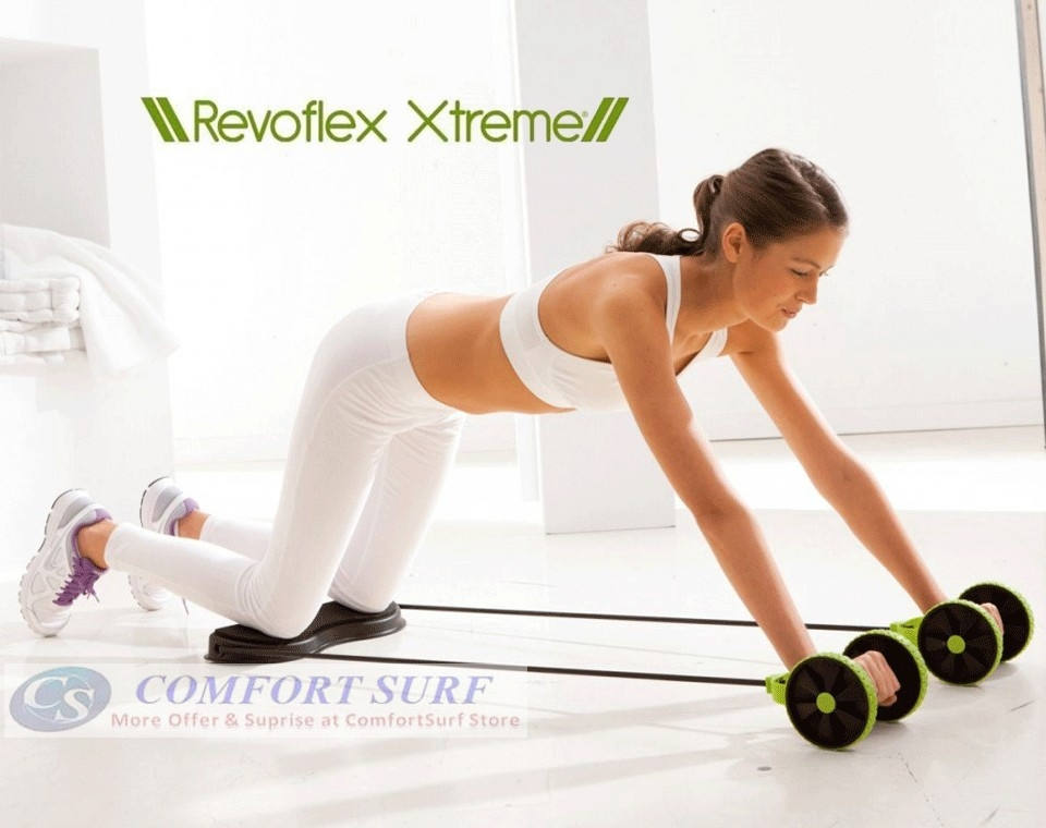 Revoflex Xtreme Workout Kit Trainer Wheeled Fitness Resistance ...