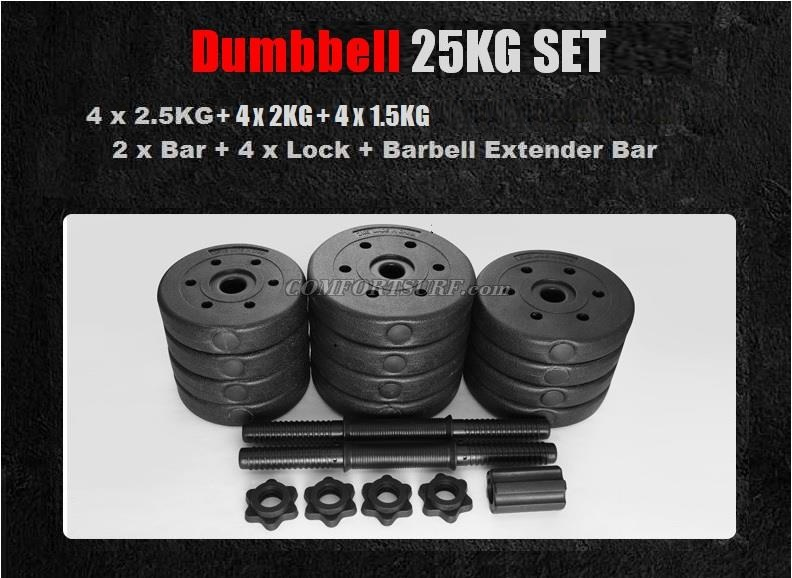 Top Grade Black Bumper Plate Rubber Dumbbell Set V1 / V2 at 10KG 15kg 20kg 30kg 40kg