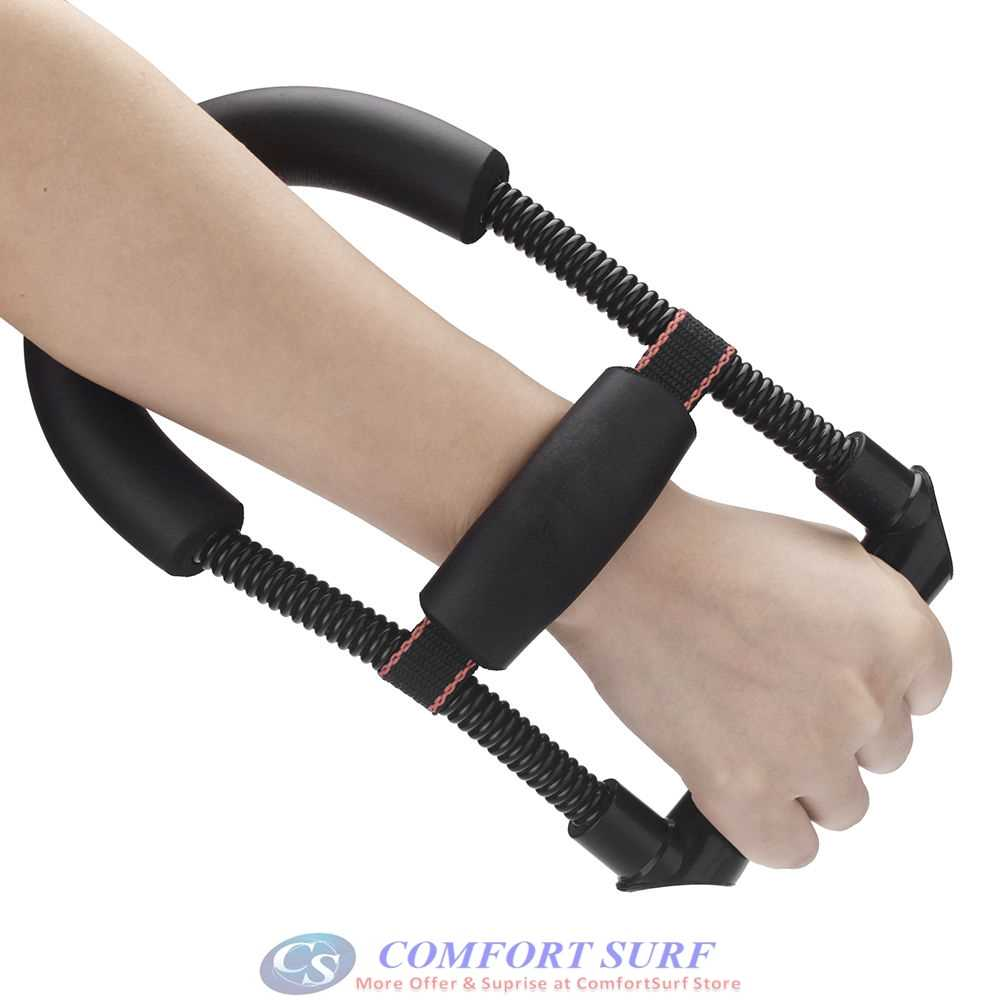 Spring Wrist Hand Forearm Gripper Grip Muscle Strength Exerciser Fitness Training Power Device