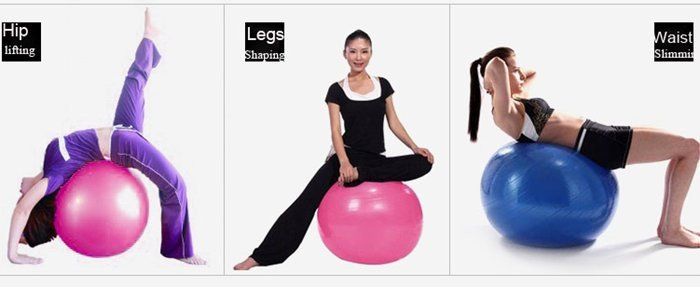 High Quality Burst Resistance Yoga Ball Gym Fitness Exercise