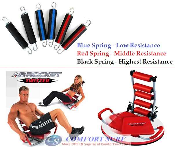 Ab rocket twister exercise slimming & fitness gym equipment.