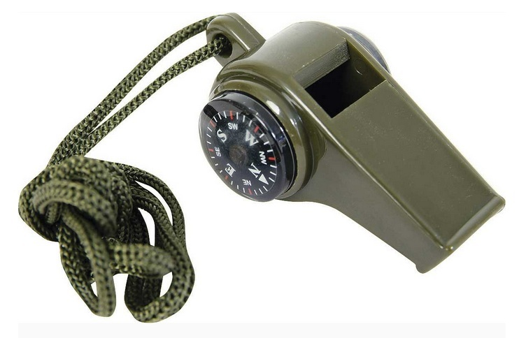 Emergency Whistle with Compass and Thermometer