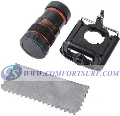 8x Zoom Detachable Optical Lens for Mobile Phone Telescope with Universal Holder