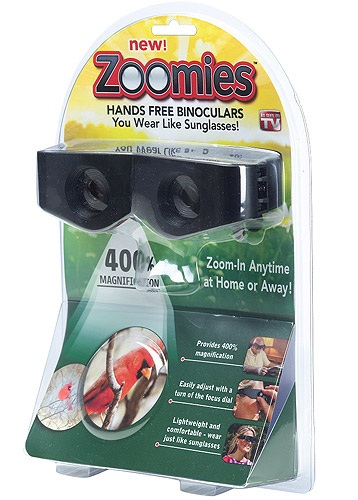 Zoomies - Hands Free Binoculars You Wear Like Sunglasses!